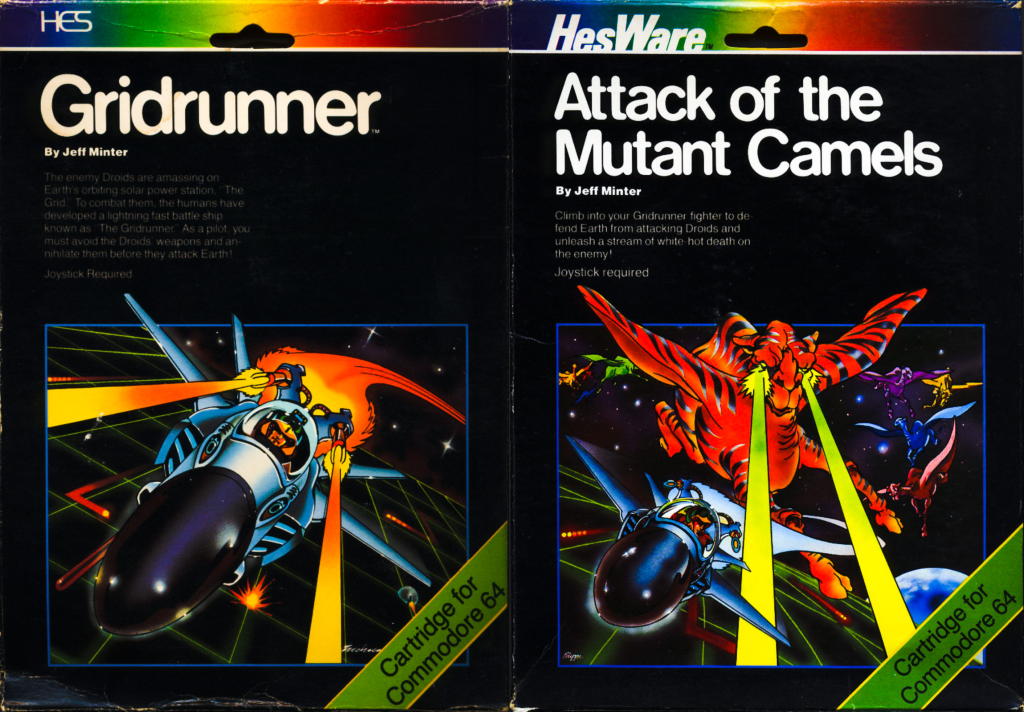 Gridrunner and Attack of the Mutant Camels C64 Cover Art
