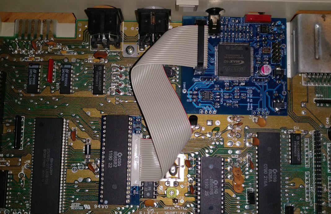 c0pperdragon C64 Video Enhancement Shortboard Close Up