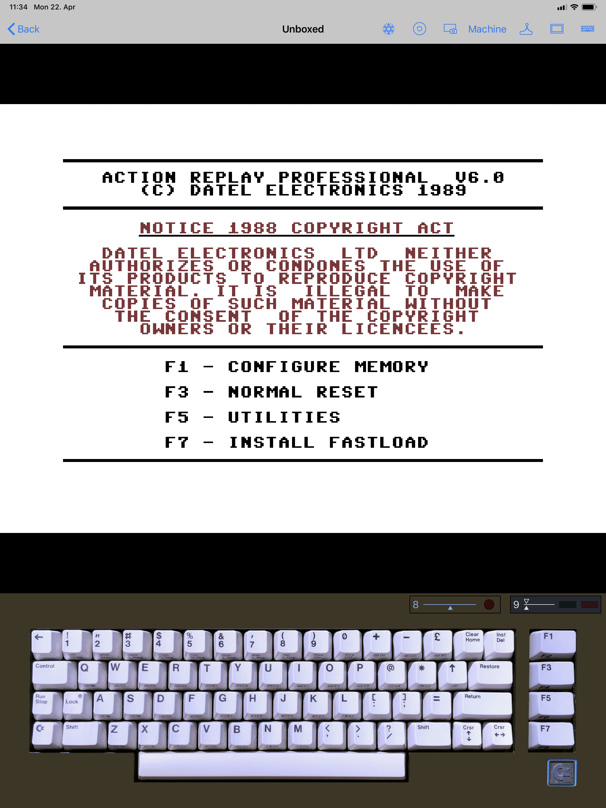 Vice Emulator Keyboard Shortcuts