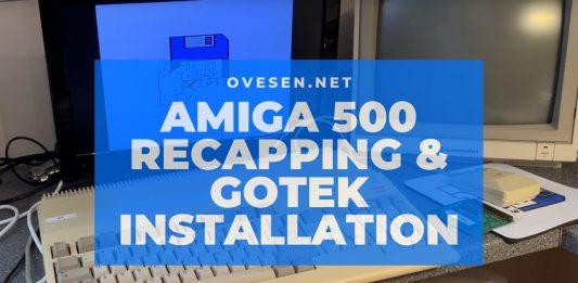 Amiga 500 Recapping & Gotek Installation