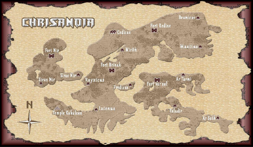 Map of Chrisanoia
