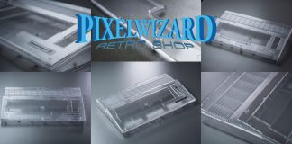 Pixelwizard Transparent C64C Case