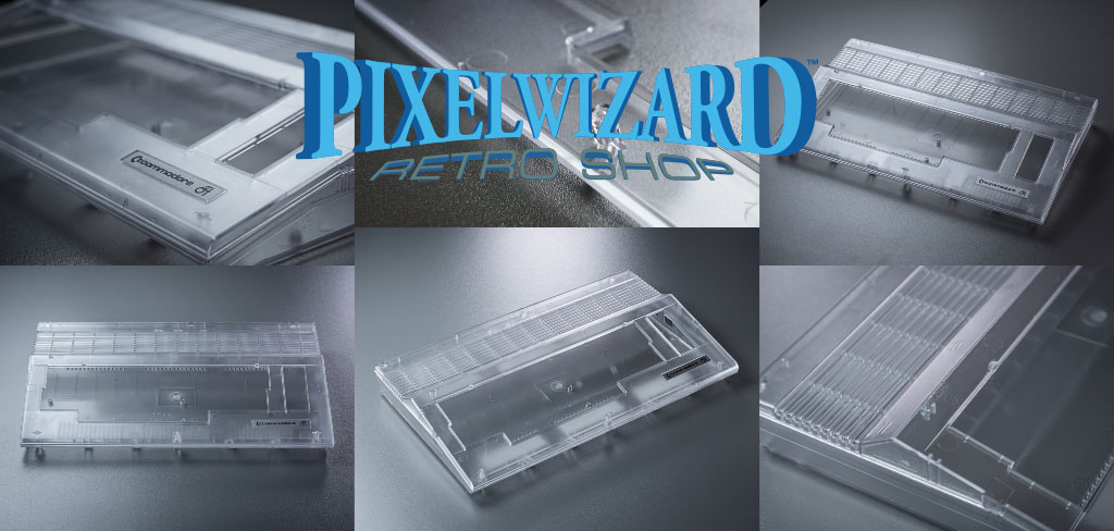 Pixelwizard Transparent C64C Case