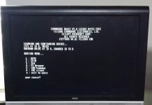 C128 Device Manager Boot Screen